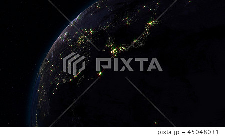 3D rendering of the planet Earth from space 45048031