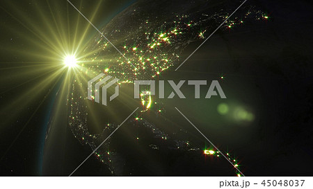 3D rendering of the planet Earth from space 45048037
