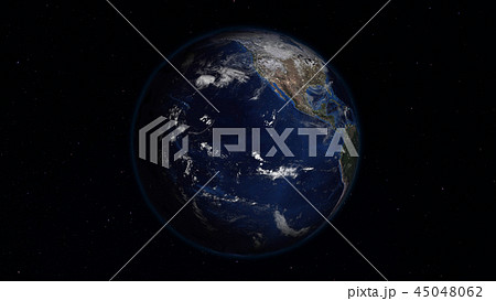 3D rendering of the planet Earth from space 45048062