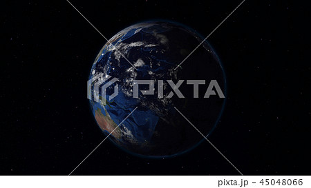 3D rendering of the planet Earth from space 45048066