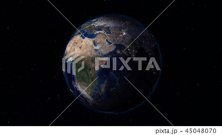 3D rendering of the planet Earth from space 45048070