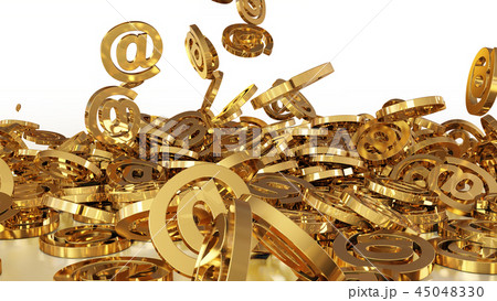 Signs of email falling on a pile 45048330