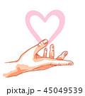 手 愛 LOVEのイラスト 45049539