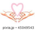 手 愛 LOVEのイラスト 45049543