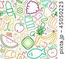 食 料理 食べ物のイラスト 45050223