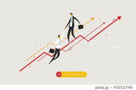 Businessman climbing graph, help. 45052746
