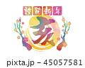 謹賀新年 年賀状 亥年のイラスト 45057581