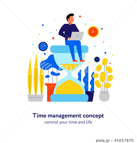 Time Management Flat Composition  45057870