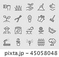 アイコン ガーデニング 園芸のイラスト 45058048