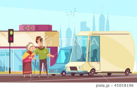 Help Elderly Outdoor Poster 45058196