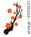 梅 梅の花 梅花のイラスト 45058231