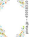 水彩 テクスチャー フレームのイラスト 45058310