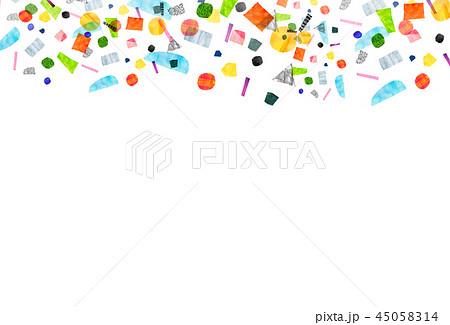 背景素材 コラージュ 水彩テクスチャー 45058314