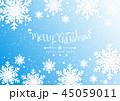 クリスマス ベクター ゆきのイラスト 45059011