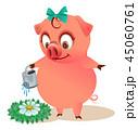 ぶた ブタ 豚のイラスト 45060761
