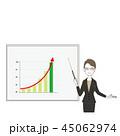 ビジネスウーマン プレゼン ビジネスのイラスト 45062974