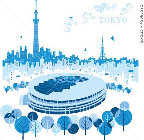 東京オリンピック 新国立競技場 45065531