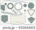 飾り枠 枠 フレームのイラスト 45066669