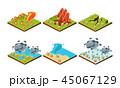 災害 ベクトル 増水のイラスト 45067129