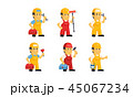 マンガ 漫画 建築業者のイラスト 45067234