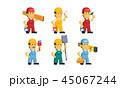 マンガ 漫画 建築業者のイラスト 45067244