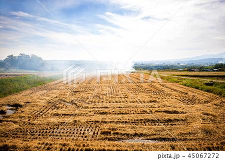 秋の田園風景 45067272