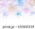 クリスマス 背景 冬のイラスト 45068339