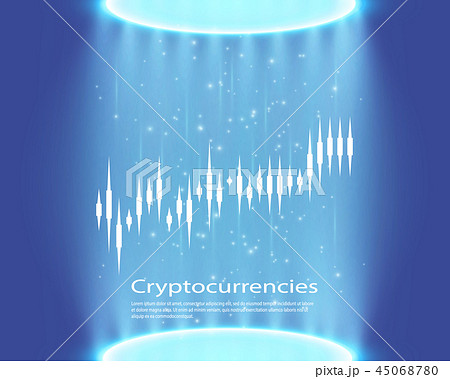 Graph of cryptocurrency. Graphics and analytics of cryptography. vector illustration 45068780