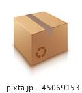 BOX ボックス ダンボールのイラスト 45069153