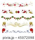 正月 年賀素材 年賀状素材のイラスト 45072098