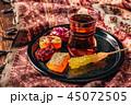 飲物 砂糖菓子 お菓子の写真 45072505