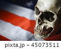 Human skull against american flag 45073511