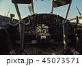 Center console and throttles in an old airplane 45073571
