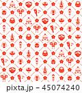お正月 パターン 縁起物のイラスト 45074240