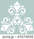 青 パターン 柄のイラスト 45074698