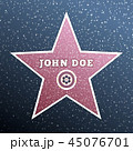 Actor's star on the background of marble tiles. Vector 45076701