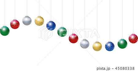 Christmas Balls Golden Silver Red Green Blue Wave 45080338