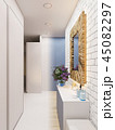 3d illustration of the interior design of an apartment in Scandi 45082297