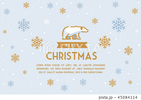 Merry Christmas background design template 45084114