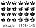 王冠 アイコン セットのイラスト 45084143