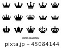 王冠 アイコン セットのイラスト 45084144