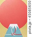 富士山 ご来光 和柄のイラスト 45085650