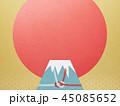 富士山 ご来光 和柄のイラスト 45085652