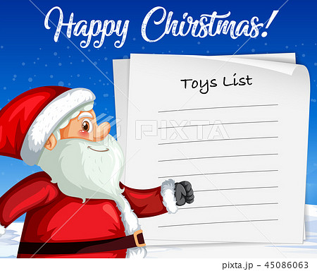Santa claus on blank paper template 45086063