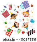クリスマス プレゼント 舞い降りるのイラスト 45087556