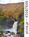 苗名滝 地震滝 秋の写真 45087606