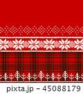 クリスマス 赤 チェックのイラスト 45088179