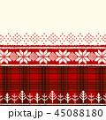 クリスマス 赤 チェックのイラスト 45088180