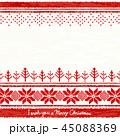 ニット クリスマス 赤のイラスト 45088369