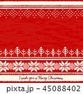 ニット クリスマス 赤のイラスト 45088402